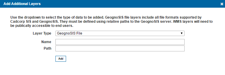 Add an Additional GeognoSIS File Layer