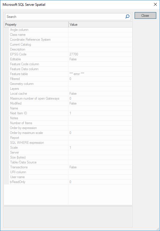 Microsoft SQL Server Spatial (SIS9)
