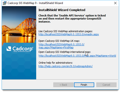 Opening WebMap Admin